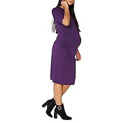 Dorothy Perkins - **maternity purple bodycon dress