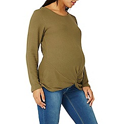 Dorothy Perkins - **maternity khaki soft touch knot top