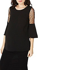 Dorothy Perkins - **maternity black mesh polka dot top