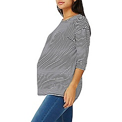 Dorothy Perkins - **maternity multicoloured striped slouch t-shirt