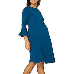 Dorothy Perkins - **maternity teal empire fit and flare dress