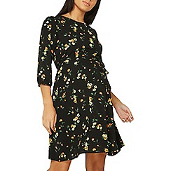 Dorothy Perkins - Maternity black alessia floral skater dress