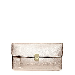 Dorothy Perkins - Champagne pocket front clutch bag
