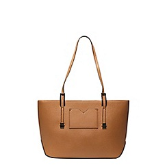 Dorothy Perkins - Small tan landscape tote bag