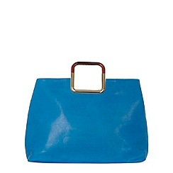 Dorothy Perkins - Blue square handle tote bag