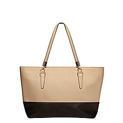 Dorothy Perkins - Black and mink block tote bag