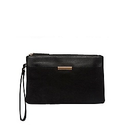 Dorothy Perkins - Black bar pocket wristlet bag