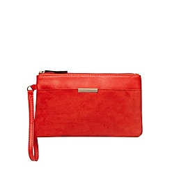 Dorothy Perkins - Red bar pocket wristlet clutch bag