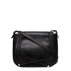 Dorothy Perkins - Black large plait satchel