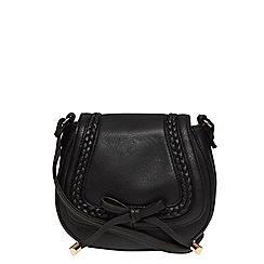 Dorothy Perkins - Black mini plait satchel bag