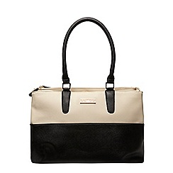 Dorothy Perkins - Black and bone double zip tote