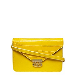 Dorothy Perkins - Bright yellow cross body with a butterfly lock