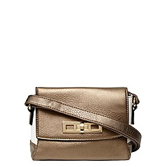 Dorothy Perkins - Bronze metallic cross body bag
