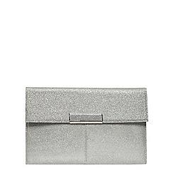 Dorothy Perkins - Silver nisco tab clutch