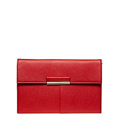 Dorothy Perkins - Red colour tab clutch