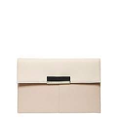 Dorothy Perkins - Mushroom colour tab clutch bag