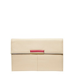 Dorothy Perkins - Buttercream colour tab clutch