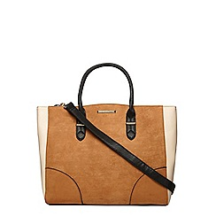 Dorothy Perkins - Tan faux suede oversized tote bag