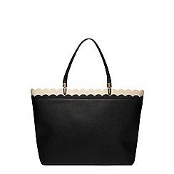 Dorothy Perkins - Black scallop landscape tote bag