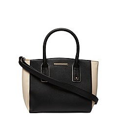 Dorothy Perkins - Black and bone mini curve tote bag