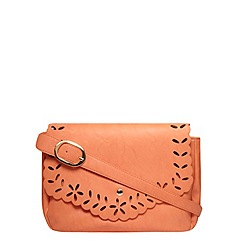 Dorothy Perkins - Coral laser cut shoulder bag