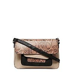Dorothy Perkins - Blush snake panel crossbody bag