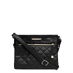 Dorothy Perkins - Black small quilted crossbody bag