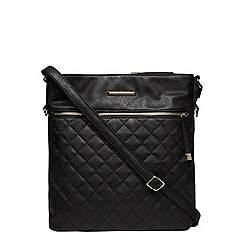 Dorothy Perkins - Black large quilted crossbody bag