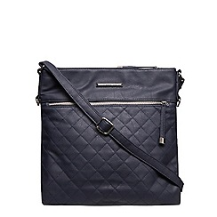 Dorothy Perkins - Navy large quilted crossbody bag
