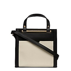 Dorothy Perkins - Black and bone pocket tote bag