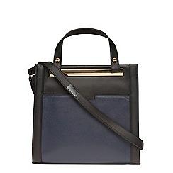 Dorothy Perkins - Navy mix mini bar pocket tote bag