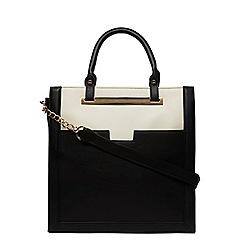 Dorothy Perkins - Black and bone pocket tote bag