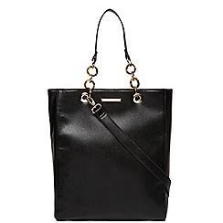 Dorothy Perkins - Black large tort handle tote bag