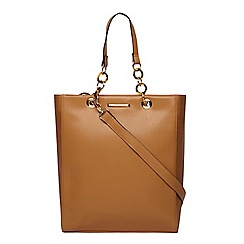Dorothy Perkins - Tan large tort handle tote bag