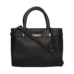 Dorothy Perkins - Black large belted tote bag