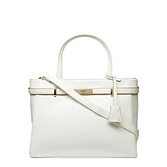 Dorothy Perkins - White large belt tote bag