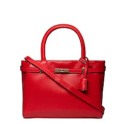 Dorothy Perkins - Red large belted tote bag