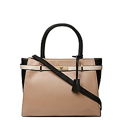 Dorothy Perkins - Mink large belted tote bag