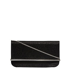 Dorothy Perkins - Black nisco roll bar clutch