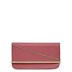 Dorothy Perkins - Raspberry roll bar clutch bag