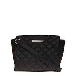 Dorothy Perkins - Black quilted wing crossbody bag