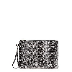 Dorothy Perkins - Dalmation wristlet clutch bag