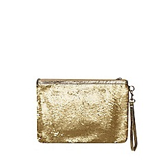 Dorothy Perkins - Black and gold sequin wristlet