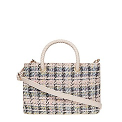 Dorothy Perkins - Pink mini tweed tote bag
