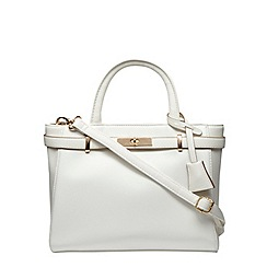 Dorothy Perkins - White mini belted tote bag