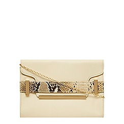 Dorothy Perkins - Cream belted clutch
