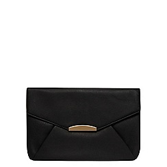 Dorothy Perkins - Black curve soft clutch