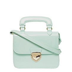 Dorothy Perkins - Mint mini pushlock satchel
