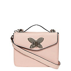 Dorothy Perkins - Pink butterfly boxy crossbody bag