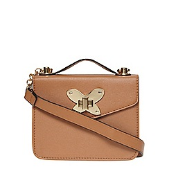 Dorothy Perkins - Nude butterfly boxy cross body bag
